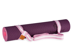 YOGALAND Premium Yoga Mat with Carrier Strap - Yoga Mat 6mm 1/4-Inch Thick, Non-Slip, Eco-Friendly Lightweight, Extra Large 72 x 24 for Yoga, Pilates, Exercise, Fitness (Purple)