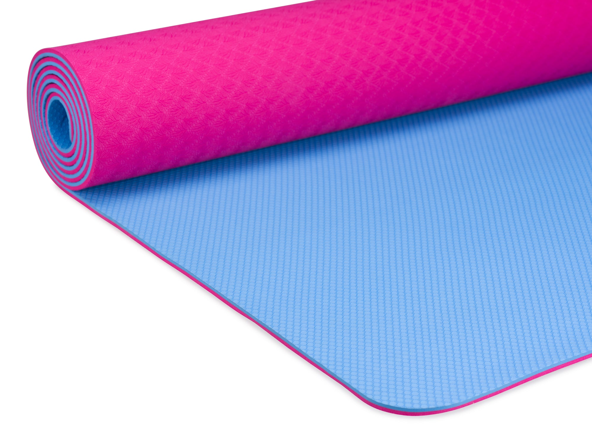 YOGALAND Premium Yoga Mat with Carrier Strap - Yoga Mat 6mm 1/4-Inch Thick, Non-Slip, Eco-Friendly Lightweight, Extra Large 72 x 24 for Yoga, Pilates, Exercise, Fitness (Pink)