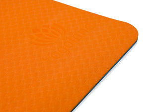 YOGALAND Premium Yoga Mat with Carrier Strap - Yoga Mat 6mm 1/4-Inch Thick, Non-Slip, Eco-Friendly Lightweight, Extra Large 72 x 24 for Yoga, Pilates, Exercise, Fitness (Orange)