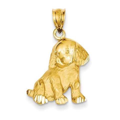 14k Gold Dogs Cats Furry Friends Pendants Charms