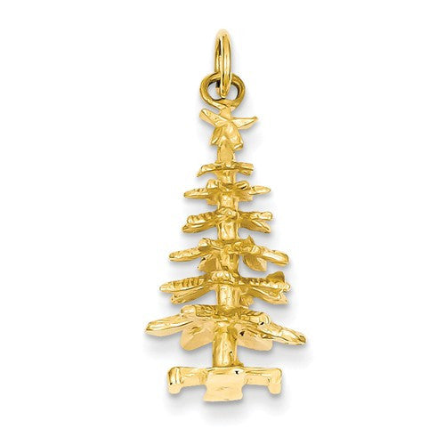 14k Gold Holiday Pendants and Charms