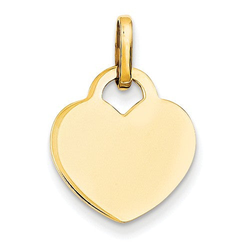 14k Gold Hearts Pendants Charms