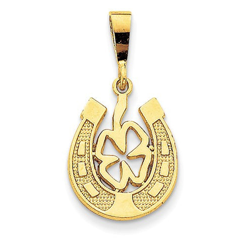 14k Gold Good Luck Signs Symbols Pendants Charms