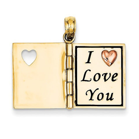 14k Gold Love Family Friends Pendants Charms