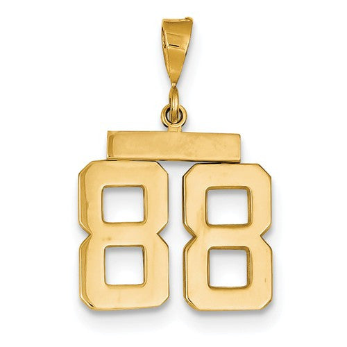 14k Gold Numbers Pendants Charms