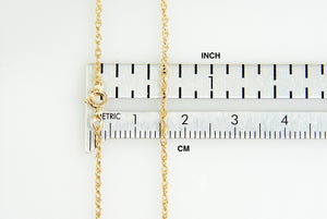 14k Yellow Gold 1.15mm Cable Rope Necklace Pendant Chain