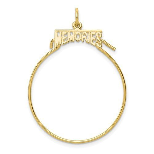 10K Yellow Gold Memories Charm Holder Pendant