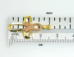Load image into Gallery viewer, 14k Gold Two Tone Cross Awareness Ribbon Pendant Charm