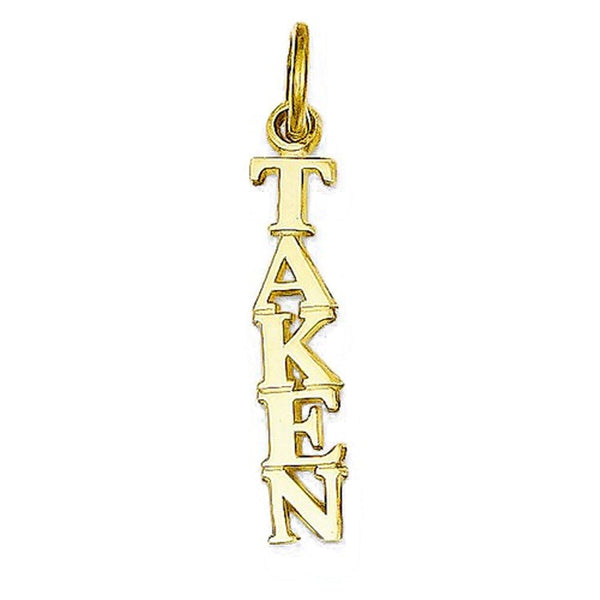 14k Yellow Gold Small Taken Pendant Charm