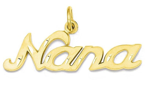 14k Yellow Gold Nana Pendant Charm