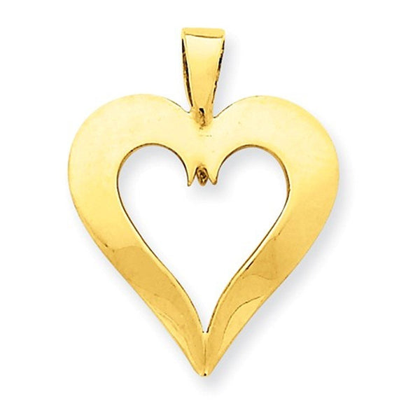 14k Yellow Gold Heart Pendant Charm