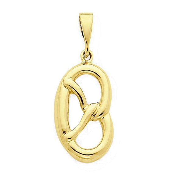 14k Yellow Gold Pretzel Open Back Pendant Charm
