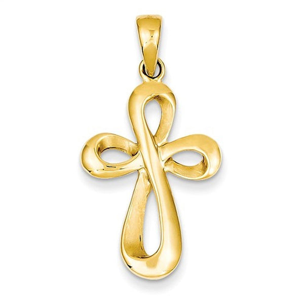 14k Yellow Gold Figure 8 Cross Pendant Charm