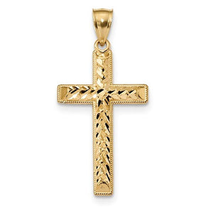 14k Yellow Gold Large Latin Cross Pendant Charm