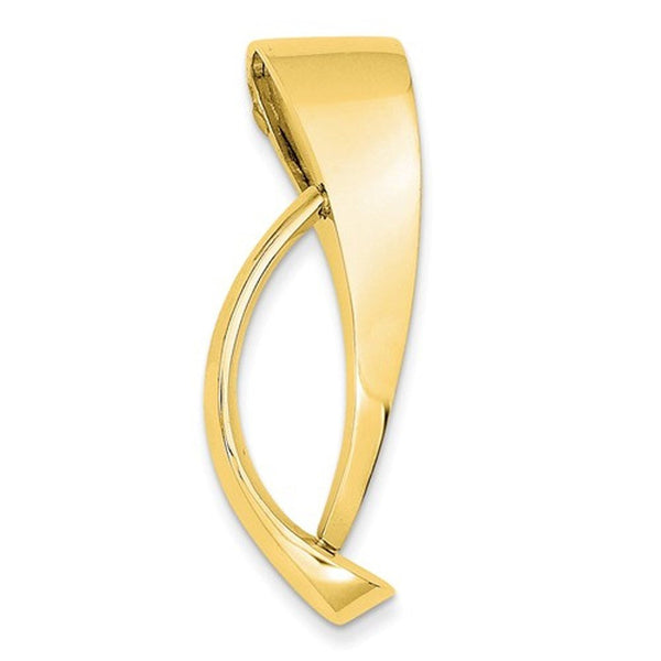 14k Yellow Gold Freeform Omega Slide Chain Pendant Charm