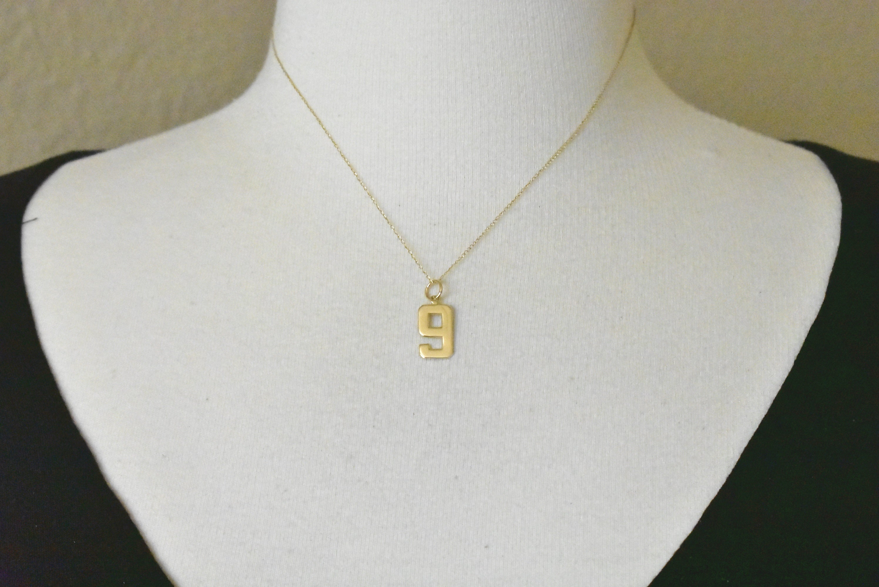 14k Yellow Gold Number 1 One Pendant Charm