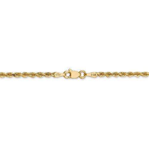 14k Yellow Gold 2.25mm Diamond Cut Rope Bracelet Anklet Choker Necklace Chain Lobster Clasp
