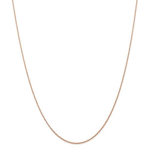 14k Rose Gold 0.70mm Thin Cable Rope Necklace Pendant Chain