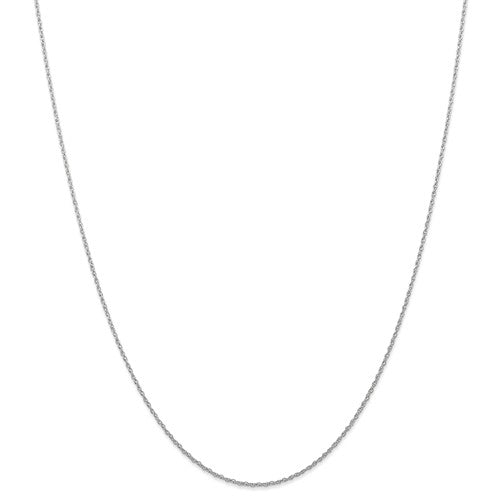 14k White Gold 0.70mm Thin Cable Rope Necklace Pendant Chain