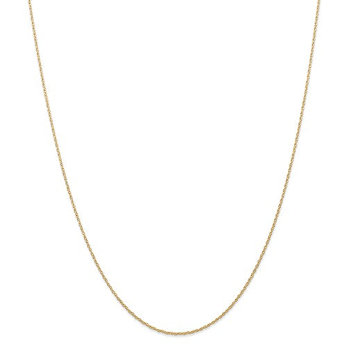 14k Yellow Gold 0.70mm Thin Cable Rope Necklace Pendant Chain