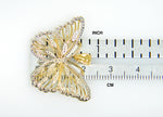Load image into Gallery viewer, 14k Yellow Gold and Rhodium Butterfly Pendant Charm
