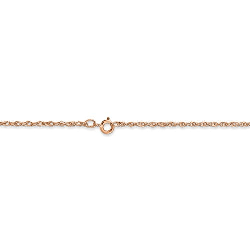 14k Rose Gold 1.15mm Cable Rope Necklace Pendant Chain