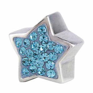 Authentic Silverado Star Blue Bling CZ Sterling Silver Bead Charm