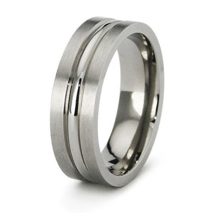 Titanium Wedding Ring Band Classic Contemporary Engraved Personalized