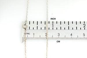 14k White Gold 0.95mm Cable Rope Necklace Pendant Chain