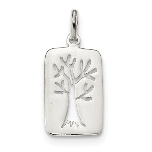 Sterling Silver Tree of Life Cut Out Pendant Charm