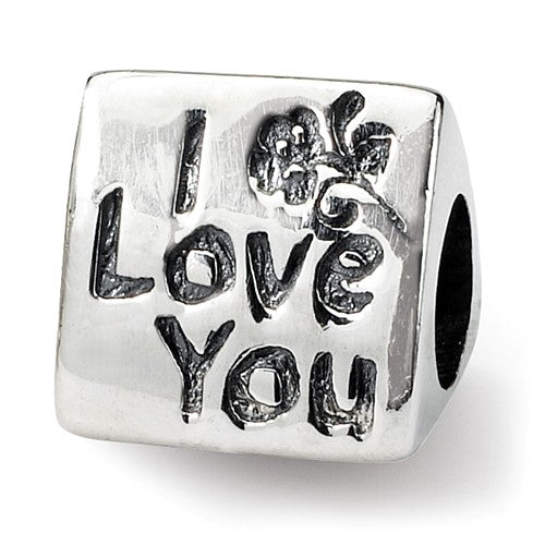 Authentic Reflections Sterling Silver I Love You Mom Bead Charm
