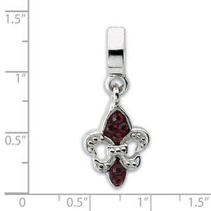 Authentic Reflections Sterling Silver Fleur De Lis Swarovski Bead Charm