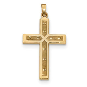 14k Yellow Gold Latin Cross Pendant Charm