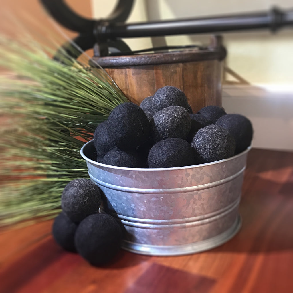 Alpaca Dryer Balls | Felted raw alpaca balls | Set of 4 | Various colors including tan, white, brown, and black.