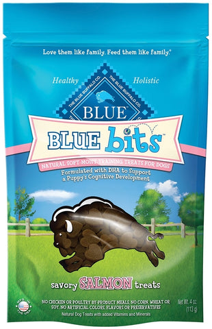 Blue Buffalo Bits Savory Salmon Natural Soft-Moist Training Dog Treats