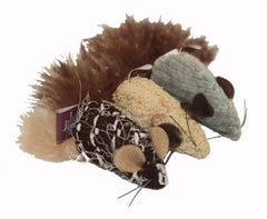 Multipet Yarn Mouse with Feather Tail Cat Toy