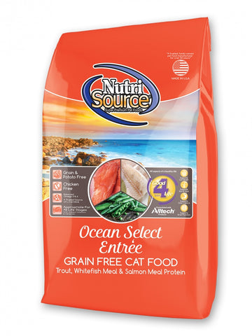 NutriSource Grain Free Ocean Select Entree Dry Cat Food