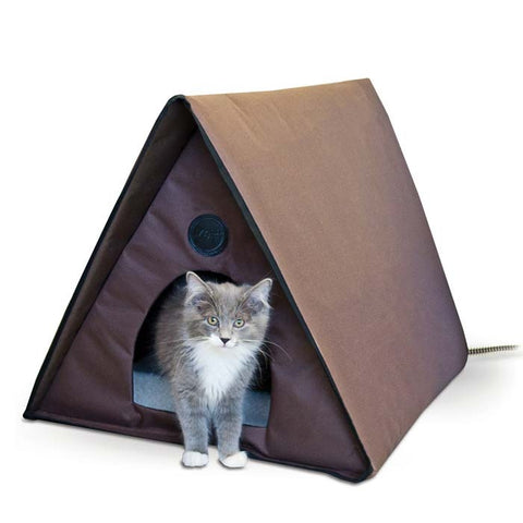 K&H Pet Products Outdoor Heated Multiple Kitty A-Frame