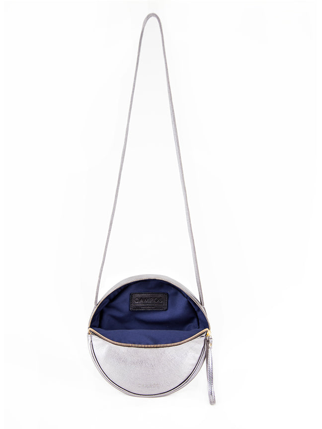 "Top-Handle Crossbody ""Full Moon"" Handbag"