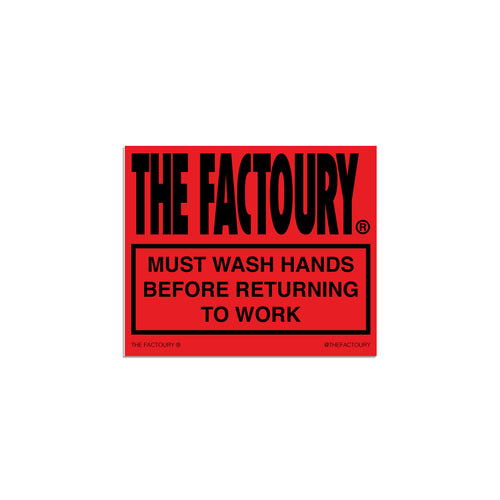 THE FACTOURY® SANITATION STICKER