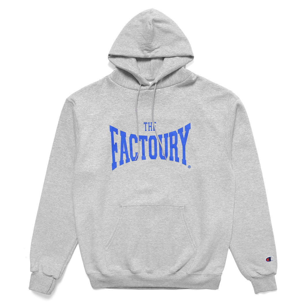 THE FACTOURY® NEVERLAST GREY HOODED SWEATSHIRT