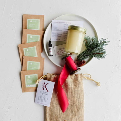 Holiday Spice Herbal Honey DIY Kit