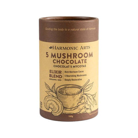 Harmonic Arts Elixir Blend - 5 Mushroom Chocolate | Kolya Naturals, Canada