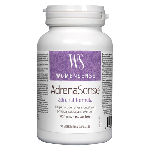 Bottle of WomenSense AdrenaSense Adrenal Formula 90 Vegetarian Capsules | Kolya Naturals, Canada