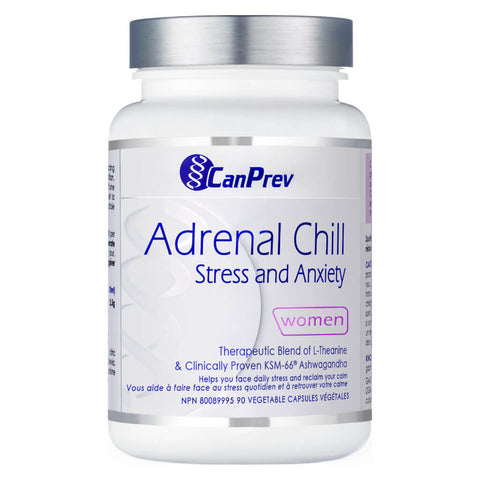 Bottle of CanPrev Adrenal Chill 90 Vegetable Capsules | Kolya Naturals, Canada