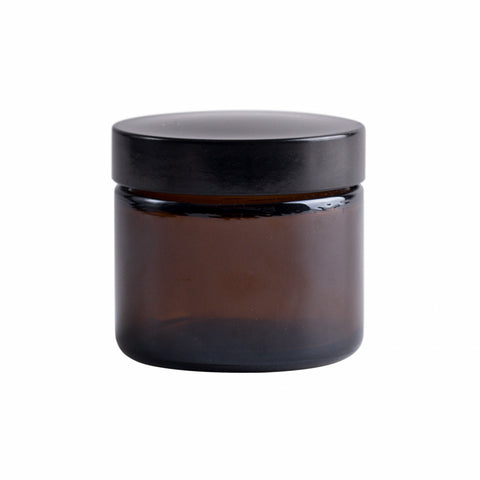 Earth's Aromatique - Amber Glass Jar w/ Black Lid 2oz | Kolya Naturals, Canada