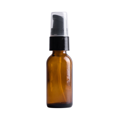 Earth's Aromatique - Amber Glass Bottle w/ Black Treatment Pump 1oz | Kolya Naturals, Canada