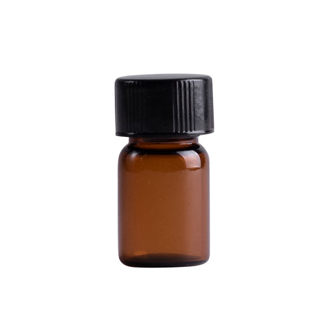 Earth's Aromatique - Amber Glass Vial w/ Orfice reducer 0.040 oz | Kolya Naturals, Canada
