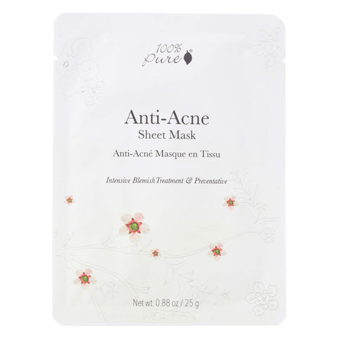 100% Pure Anti-Acne Sheet Mask 25 Grams