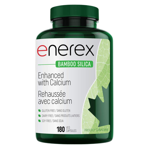 Bottle of Enerex Bamboo Silica 180 Vegetable Capsules | Kolya Naturals, Canada